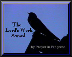Prayer in Progress Award